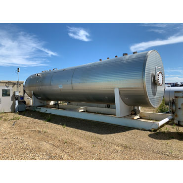 "108"" ID. x 35' s/s, 50 psig Sour Service Horizontal Separator"