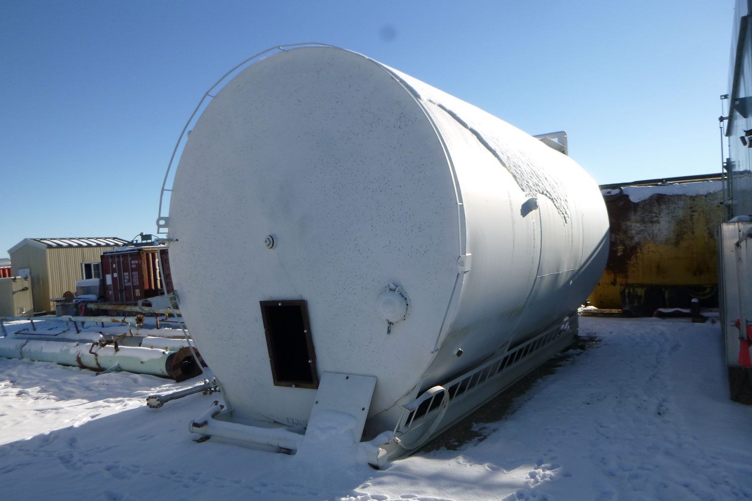 400 BBL Single Wall Tank, Sloped Bottom