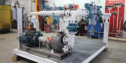 Calculating Pressure Net Positive Suction Head for a Skid Pump